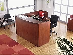 Alera Valencia Series Reception Desk w/Counter, 71w x 35.5d x 42.5h Mahogany