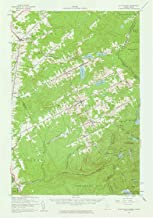 YellowMaps Saint Zacharie ME topo map, 1:62500 Scale, 15 X 15 Minute, Historical, 1957, Updated 1961, 20.8 x 14.6 in