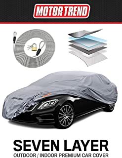 Motor Trend M5-CC-4 XL Car Cover (7-Series Defender Pro-Waterproof for All Weather-Snow, Wind, Rain & Sun-Ultra Heavy 6 Layers-Fits Up to 210