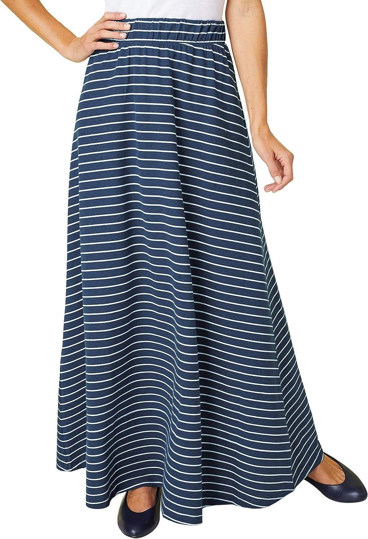 ANTHONY RICHARDS Women's Softly Knit Maxi Skirt – Long Cotton-Rich High Waist Skirt
