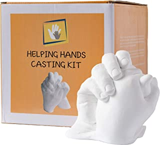 Hand Casting Kit Gift | Large with Giftable Box | Molding Kit | Anniversary Keepsake | Plaster | Clone DIY 3D Plaster Statue | Large Size | Mold Do It Yourself Impressions Rubber Memory Baby Infant