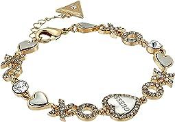 GUESS - XO Heart Line Bracelet