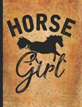 Horse Riding Lover: Wild One Horse Girl Wide Rule College Notebook 8.5x11 Little cowgirl will love this gift. Horseback riding girl boy woman