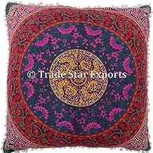Trade Star Exports 26 Large Euro Shams Pillow Cover, Decorative Mandala Cushion, Meditation Pillow Cases, Bohemian Throw Pillow