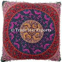 Trade Star Exports 26 Large Euro Shams Pillow Cover, Decorative Mandala Cushion, Meditation Pillow Cases, Bohemian Throw Pillow