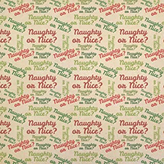 Naughty or Nice Kraft Present Gift Wrap Wrapping Paper