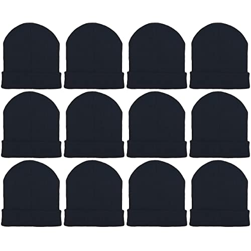 12 Pack Winter Beanie Hats for Men Women 6fb455a2a147