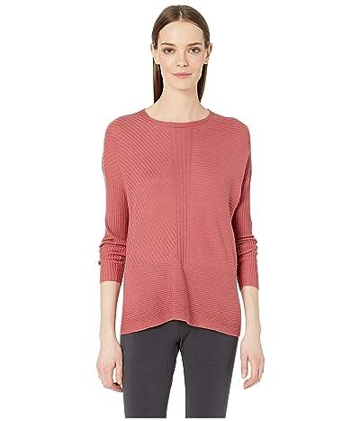 Eileen Fisher Fine Silk Cashmere Round Neck Top (Chutney) Women