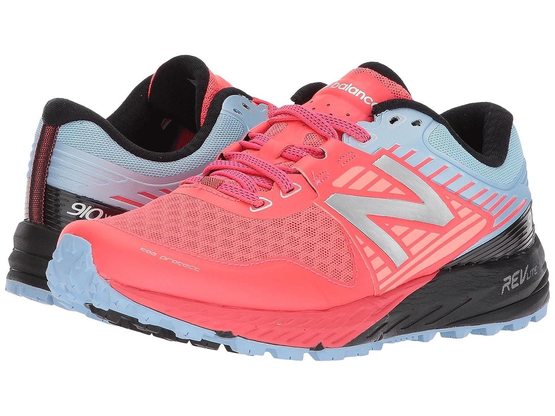 大胆居眠りする研究(ニューバランス) New Balance レディースランニングシューズ?スニーカー?靴 910v4 Vivid Coral/Clear Sky/Black 8 (25cm) B - Medium