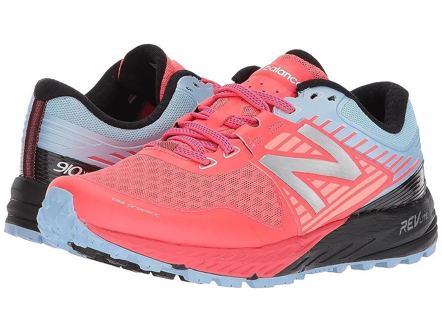 爆発物奨学金温かい(ニューバランス) New Balance レディースランニングシューズ?スニーカー?靴 910v4 Vivid Coral/Clear Sky/Black 5 (22cm) B - Medium