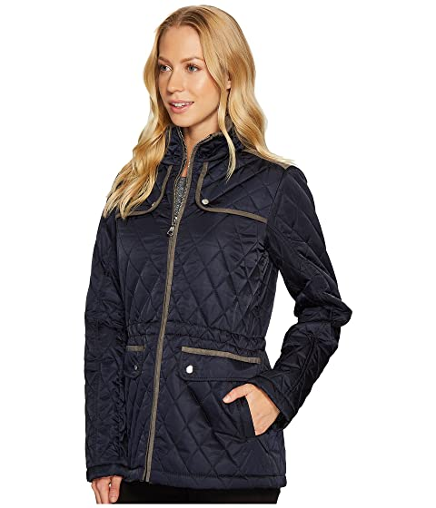 Suede Vince Jacket with Contrast Camuto Detail N8841 Faux Quilted wZZrPXvq