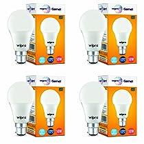 wipro 10 Watt B22 LED Bulb (Cool Day White) – Pack of 4