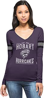 Hobart Hurricanes Grape Homerun Long Sleeve Tee, Purple