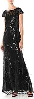 Calvin Klein Women's Cap Sleeve Gown with V Neck Back