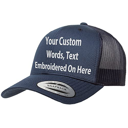 6a4d315a13d Custom Trucker Hat Yupoong 6606 Embroidered Your Own Text Curved Bill  Snapback