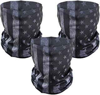 3 Pcs American Flag Outdoor Face Mask- Multifunctional Seamless Microfiber American Flag UV Protection Face Neck Gaiter Sh...