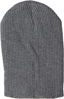 قبعة خروج بتصميم متدلٍ مضلع، مناسبة للتزلج على الجليد بلون رمادي داكن