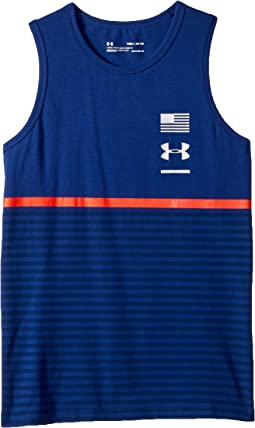 Under Armour Kids Americana Stripes Tank Top (Big Kids)