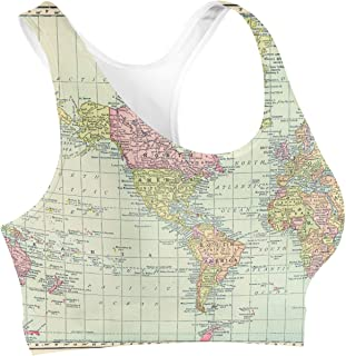 Rainbow Rules Antique World Map 1913 Sports Bra