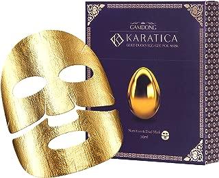 KARATICA 5Pk 24K Gold Duck's Egg Foil Sheet Face Masks. Contains 30ml Anti-Aging, Skin Tightening, Moisturizing and Detoxifying Korean essences. Patented KARAT molecular delivery technology.