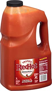 Frank's RedHot Original Cayenne Pepper Hot Sauce, 1 Gallon - One Gallon Bulk Container of Cayenne Pepper Hot Sauce to Add ...