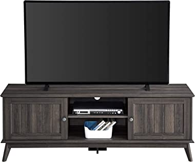 """Newport Series Modern TV Media Console 63"""" Stand Entertainment Center with Two Doors and Adjustable Storage Shelves 
