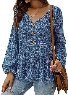 Best long floral blouse Reviews