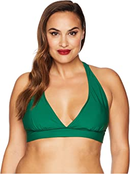 Plus Size Lulu Halter Swim Top