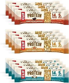Clif Whey Protein - Gluten Free Snack Bars - Variety Pack -Gluten Free -Whey Protein- Non-GMO (1.98 Ounce Complete Protein...