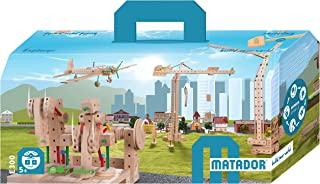 KSM Toys Matador Classic 3 - 407 Piece 3-D Wooden Construction Set for Builders Ages 5 to 12 (Made in Austria)
