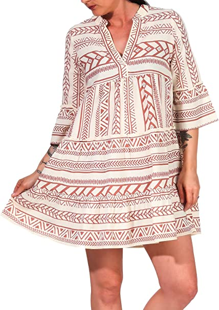 Vero Moda Female Tunika Printed Amazon De Bekleidung