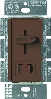 Lutron Skylark 3-Way Dimmer for Incandescent/Halogen Bulbs with On/Off Switch, 600-Watt, S-603P-BR, Brown