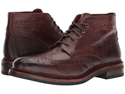 Frye Graham Brogue Chukka (Cognac Pull Up Leather) Men