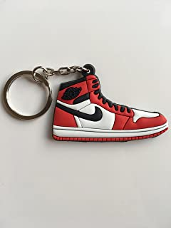 Jordan Retro 1 OG Chicago Sneaker Keychain Shoes Keyring AJ 23