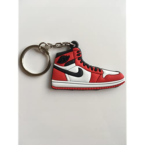 5949870ad99 Jordan Retro 1 OG Chicago Sneaker Keychain Shoes Keyring AJ 23