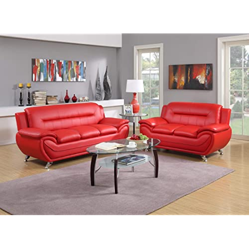 Red Velvet Sofas and Couches: Amazon.com