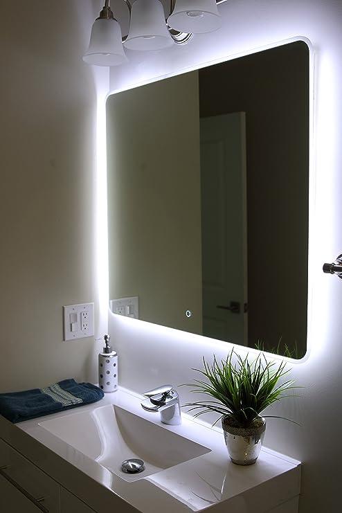 Amazon Com Windbay Backlit Led Light Bathroom Vanity Sink Mirror Illuminated Mirror 36 Home Kitchen