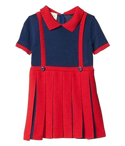 Gucci Kids Fine Vi/Co Plain w/ Pleats Dress (Infant)