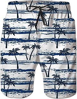 c3afc90bb281 NEWISTAR Uomini Tronchi per la Spiaggia da Uomo di Costume da Bagno con  Stampa Corti Pantaloncini