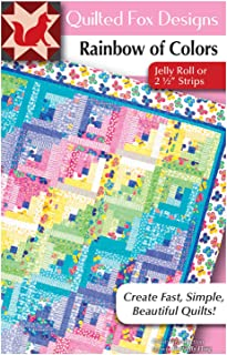 Rainbow of Colors Quilt Pattern: Jelly Roll or 2 1/2