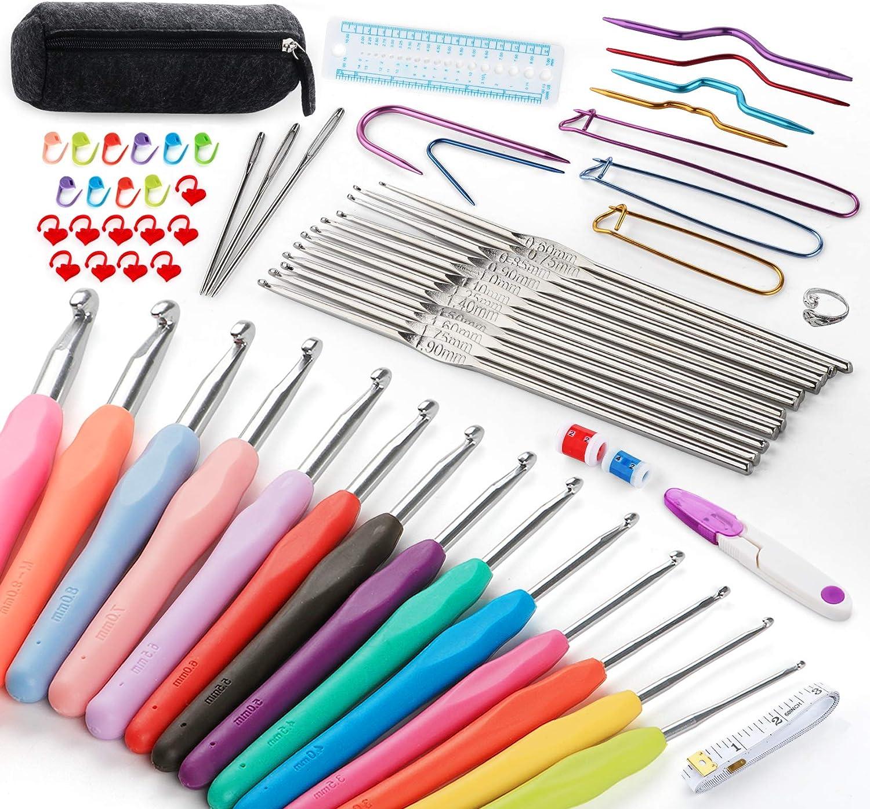 Lemonfilter 39 Pack Nippon regular agency Oklahoma City Mall Crochet Hooks Set B Ergonomic 2mm N -10mm