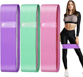 EWAKA Booty Bands, Non Slip Resistance Bands for Legs and Butt, Workout Bands Exercise Bands Glute Bands for Women, 3 Pack...