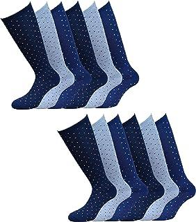 Fontana Calze, 12 paia di calze lunghe bambino ragazzo in caldo cotone elasticizzato. Prodotto Italiano