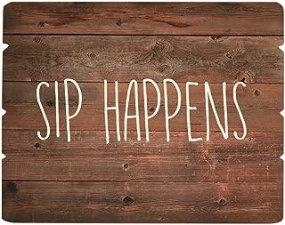 SB Design Studio B4410 Sips Drinkware Tray/Wooden Sign, 12