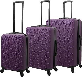 Mia Toro Italy Molded Art Braid Hard Side Spinner Luggage 3 Piece Set