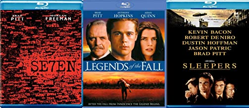 What Made Brad Pitt Famous: Sleepers (Blu-Ray) +Legends Of The Fall (Blu-Ray) + Seven (Blu-Ray) Bundle