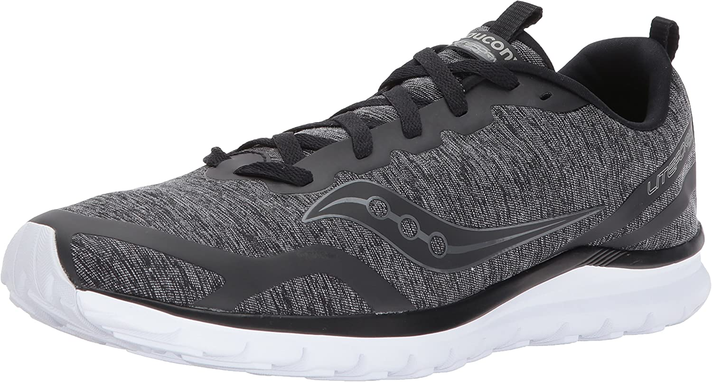 Saucony Men's Feel Sneaker, Black, 8.5 Medium US