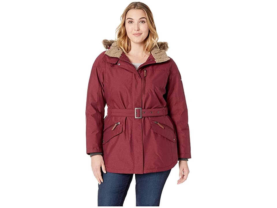 Columbia Plus Size Carson Pass II Jacket (Rich Wine) Women