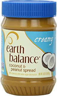 Earth Balance Coconut and Peanut Butter Spread, Creamy, 16 Ounce (Pack of 12)