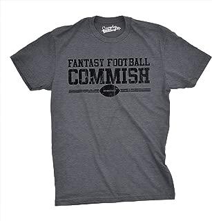 Mens Fantasy Football Commish T Shirt Funny Sports Shirt Football Tee